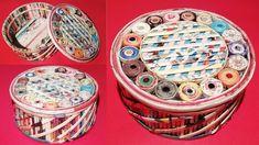 How to make a jewellery box using newspaper & Cardboard DIY Newspaper Cr...
