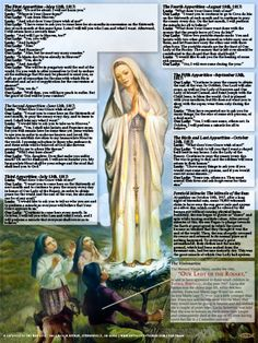 Our Lady of Fatima Explained Poster. This great poster explains the apparitions by showing the dialogue between Our Lady and Lucia.