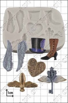 Steam Punk Fantasy Silicone Mould by Katy Sue available at The Vanilla Valley. Ideal for cake decorating #cake #cupcakes
