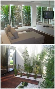 How to make a winter garden, How to make a winter garden. A garden is a beautiful element to include at home, as it brings us closer to nature and provides pleasant moments of gar. Interior Garden, Interior And Exterior, Modern Interior, Interior Design, Inside Garden, Home And Garden, Outdoor Spaces, Outdoor Living, Playground Flooring