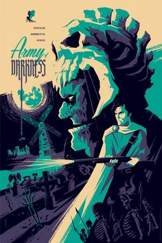 Buy Tom Whalen Army of Darkness Evil Dead AP Edition Poster Ash Necromocan Boomstick at online store Geek Art, Illustration, Artist, Horror Movie Posters, Horror Movie Art, Tom Whalen, Movie Art, Poster, Mondo Posters