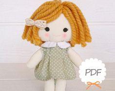 PDF peinado para muñecas pelo hilo coser Tutorial PDF por NilaDolss