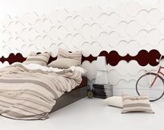 Sypialnia z wykorzystaniem paneli Twist.