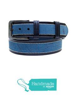 "Blue Adjustable Leather Belt 121 cm (47.64"") BLT899 from Nazo Design… #handmadeatamazon #nazodesign"