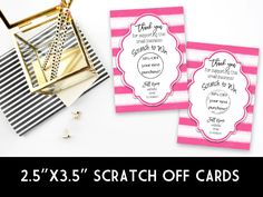 Win Free Stuff, Scratch Off Cards, Pink Watercolor, Note Cards, Stationery, Graphic Design, Birthday, Collection, Vest