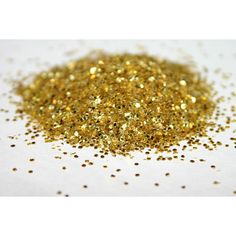 Glitter, Gold, New Year, New Year Decor, Hexagon Glitter, Gold... ($3.25) ❤ liked on Polyvore