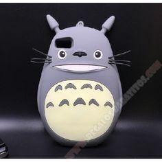 Carcasa 3D para Huawei P8 Lite Totoro en muñeco de silicona