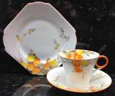 Shelley-Regent-Shape-Acacia-Pattern-Tea-Cup-Trio