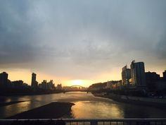 sun set in lanzhou