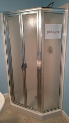 Elegant Semi Frameless Shower Slider With Rain Glass And