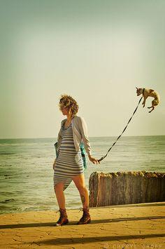 """Dog Walking by """"Shanty"""" Cheryl, via Flickr"""