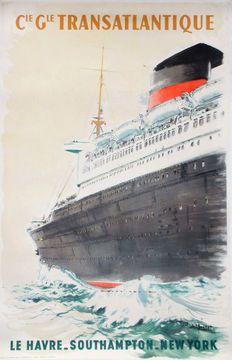 A. Brenet - Cie. Gle. Transatlantique Le Havre New York - ca. 1950