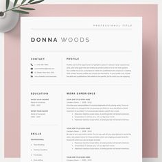 Basic resume templates to make your resume professional. All of these visual CV templates come with a matching cover letter and reference page.