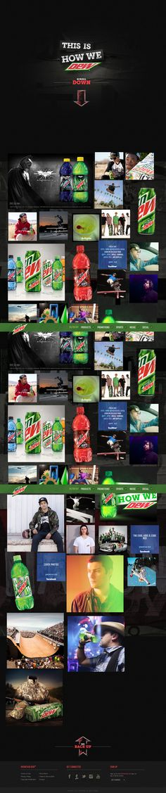 Responsive Design on the new MountainDew.com courtesy of Firstborn (they certainly continue to keep it hot)