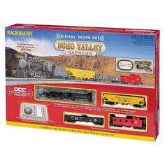Bachmann Trains Echo Valley Express HO Scale Electric Train Set, Multicolor #electrictrainsets