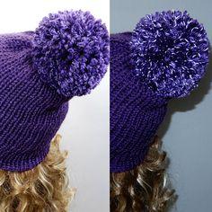 e5fb9d898d433 Reflective pom pom beanie Knit hat women Winter beanie women Pom Pom Hat