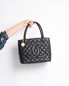 4cc723887652 Vintage Chanel caviar skin medallion tote | Vintage Heirloom – Curated  designer vintage fashion, bags & accessories