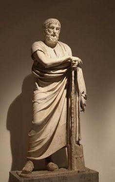 Estatua de Homero - Villa de los Papiros, Herculano