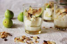 Camomila Limão: Verrine de figos pingo mel perfumada com tomilho limão