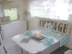 Nancy's Vintage Trailers: A Fellow Bloggers Trailer.... Oh so Cute!!