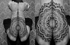 Mandala Tätowierung für beine Unterarme-Chaim Machlev style