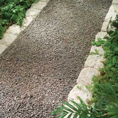 gravel path with stone edging