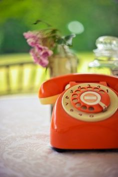orange phone; love the way these look and the dialing is so fun... until you misdial and it takes 10 minutes to dial one number.