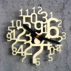 Tick Tock: Cool Modern Clocks Uhrzahl Clock by Christos Vittoratos