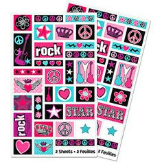 Rocker Girl Stickers 2 Sheets-Party America