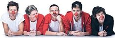 One Direction for Red Nose Day. :) Text 'yes' to 70005 (if you live in the UK) and if not, donate 5 pounds worth to Red Nose Day (via. RND website) to save a life. Boys Who, My Boys, One Direction Music, Red Nose Day, Five Guys, Irish Boys, Top Of The World, Liam Payne, Louis Tomlinson