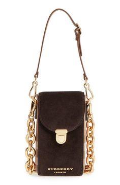 BURBERRY 'Prorsum' Suede Check Shoulder Bag. #burberry #bags #shoulder bags #hand bags #suede