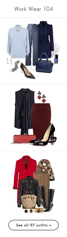 """""""Work Wear 104"""" by kimsteenkamp ❤ liked on Polyvore featuring Givenchy, CristaSeya, Vince Camuto, Brooks Brothers, Sergio Rossi, Chanel, H&M, Dorothy Perkins, Moschino and Swarovski"""