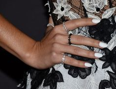 The perfect spring nail polish color: White, as seen on Sarah Hyland