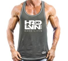 9946ecd69045d Get your stringer tank top for your bodybuilding tank tops collection. Hard  Livin gym stringers are the best muscle tank tops around.