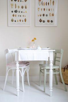 Stoelen schilderen - Dille & Kamille   Herfst op tafel!
