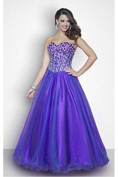 Sweetheart Lace-up Ball Gown Floor-length Prom Dresses