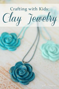 How to make Clay Jewelry - easy enough for kids!  Might just have to do this over the weekend!