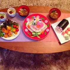 娘の初節句でした(⁎˃ᴗ˂⁎) - 14件のもぐもぐ - ひなまつりディナー by miya0106Ahk