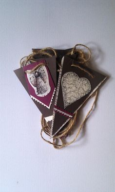 Handmade 'Believe' angel and heart, art illustrated bunting