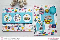 Using stickers on cards | April Card Kit 2018 | Zsofia Molnar