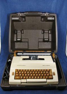 VTG SMITH CORONA Cartridge Mark 1 Electric Typewriter Brown w/ Case
