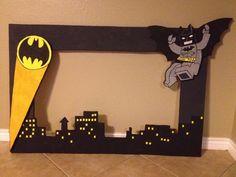 Lego Batman Styrofoam frame - Lego Batman - Ideas of Lego Batman - Lego Batman Styrofoam frame Lego Batman Birthday, Lego Batman Party, Superhero Birthday Party, 4th Birthday Parties, Boy Birthday, Birthday Ideas, Baby Batman, Robin Batman, Batman Vs