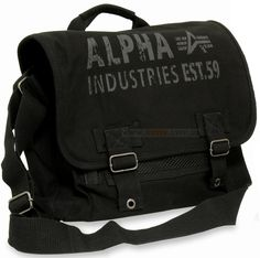 Сумка Alpha Industries Canvas Courier Bag (чорна)  Ціна: 53 $