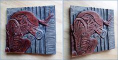 alien relief carving