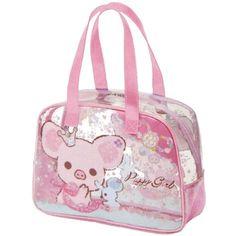 cute Piggy Girl pig with bow handbag by San-X