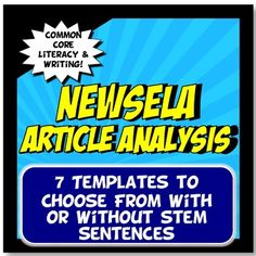 NEWSELA is a great, free online resource because it allows a student to choose his/her own lexile level to read level appropriate articles. This activity has seven templates (Newsela worksheets or Newsela graphic organizers) to choose from and is aligned with Common Core Literacy and Writing standards for ELA, history and science (NGSS).Each printable template has 2 options, with or without stem sentences for varying levels in your classroom!