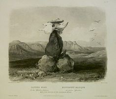 Indian Pictures: Native American Assiniboin's Magic Pile