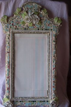 mosaic mirror frame...Pique Assiette frame by littlejunkshop