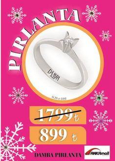 Pırlanta ₺ 1.799 değil ₺ 899 Damra Pırlanta #ANKAmall Zemin Katta.