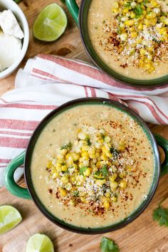 Sweet, savory, and loaded with flavor, Mexican Street Corn Soup is a fun and delicious way to serve summer corn. It's easy to make, too!
